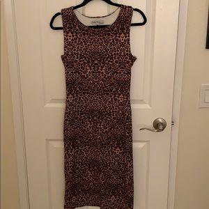 Velvet Torch Leopard dress